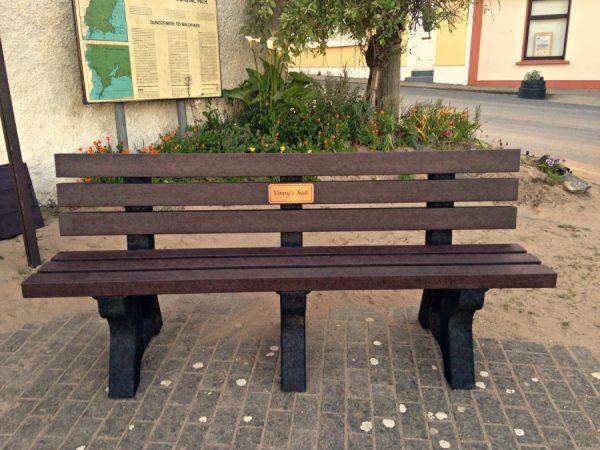 Memorial bench clonmore