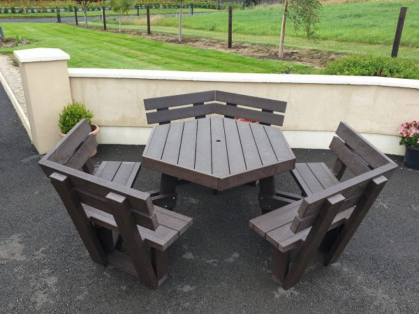 Picnic Table with backrest A2