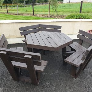 Picnic Table with backrest A3